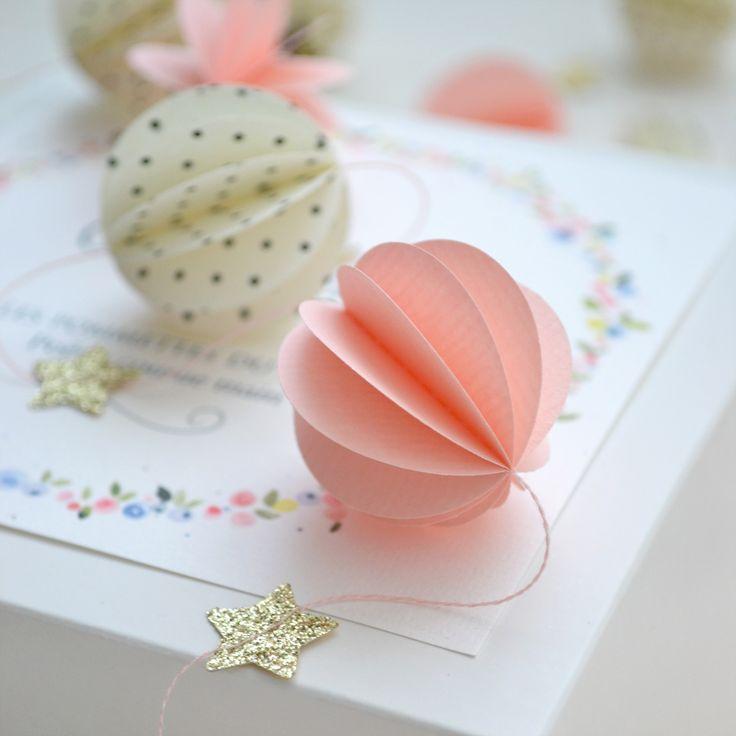 Image of Guirlande sphères rose, étoiles pailletées, sphères pois. LES POMMETTES DU CHAT