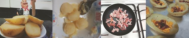 Receita: Batata recheada com cheddar e bacon