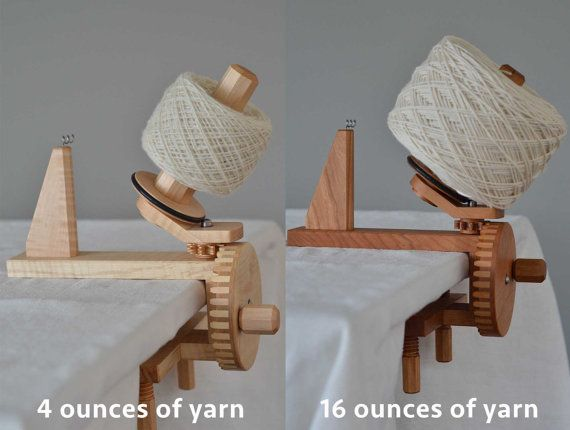Érable Yarn Ball Winder par MortiseTortoise sur Etsy