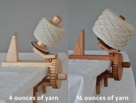 Walnut Yarn Ball Winder