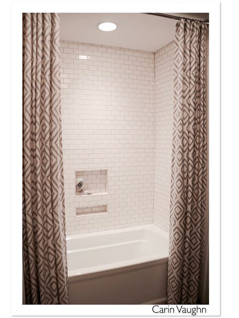 Tall shower curtain --Girl With A Surfboard