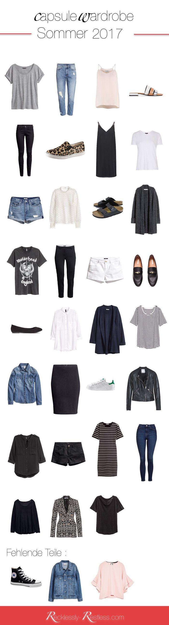 Meine Garderobe für den Sommer 2017: die Sommer Capsule Wardrobe 2017. Alle Teile, Farbschema und weitere Wünsche erklärt findet ihr hier.