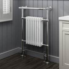 952x659mm Large Traditional White Premium Towel Rail Radiator