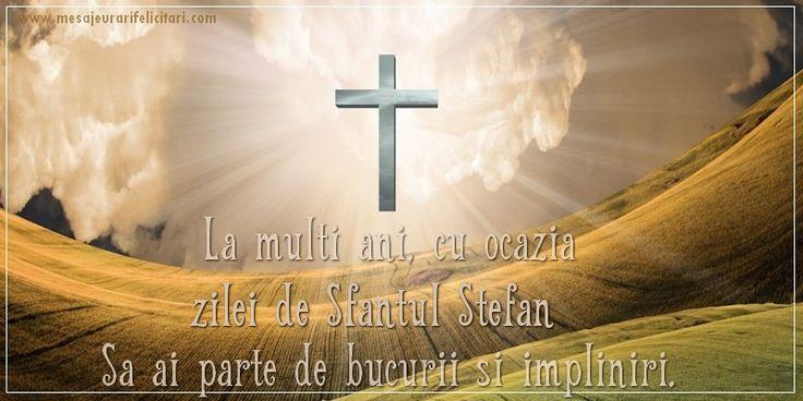 La multi ani, cu ocazia zilei de Sfantul Stefan Sa ai parte de bucurii si impliniri!