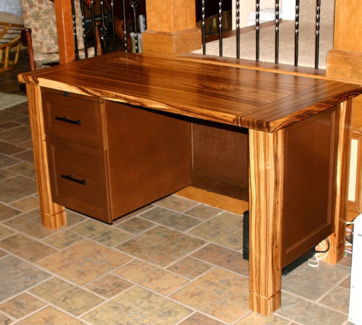 Zebrawood Desk With Printer Stand Products I Love