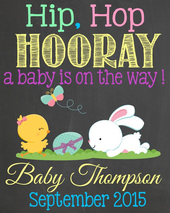 144 best pregnancy announcements images on pinterest pregnancy easter pregnancy announcement chalkboard by lalaexpressions negle Images