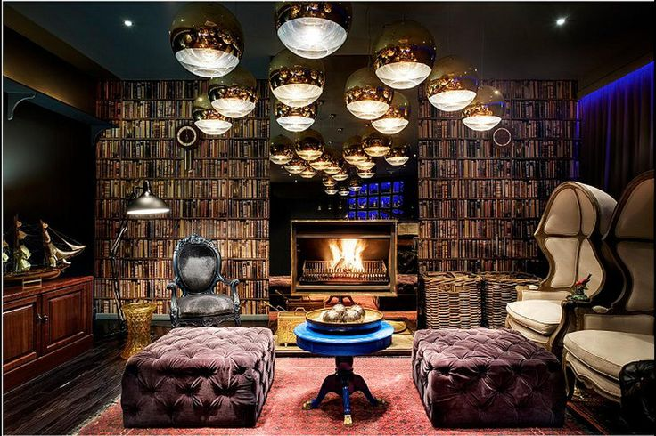 Cosy reading lounge at Majeka House, Stellenbosch
