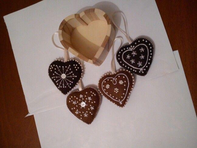 Decorazioni natalizie a forma di biscotti