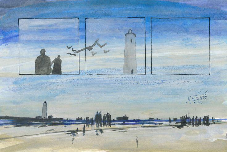 gestrandet: #islavolante #art #contemporaryart #malerei #lighthouse