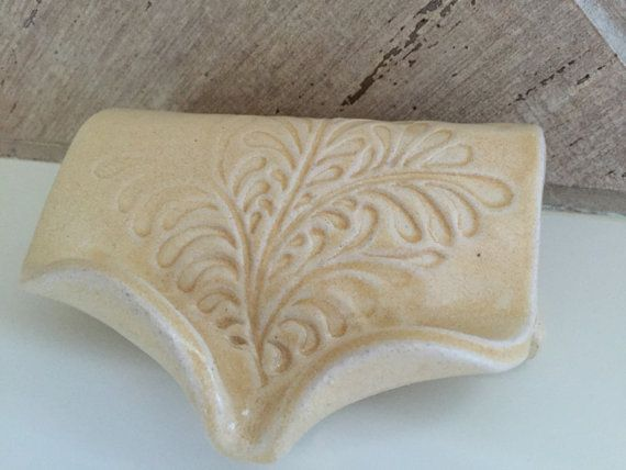 Self Draining Soap Dish  Bone by BTRceramics on Etsy