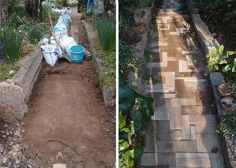 Добавьте в дачный дизайн больше оттенков.  Даже узкая садовая дорожка будет смотреться более интересно, если для ее мощения вы возьмете кирпичи разных оттенков. Такой дизайн будет смотреться более естественно на дачном участке.