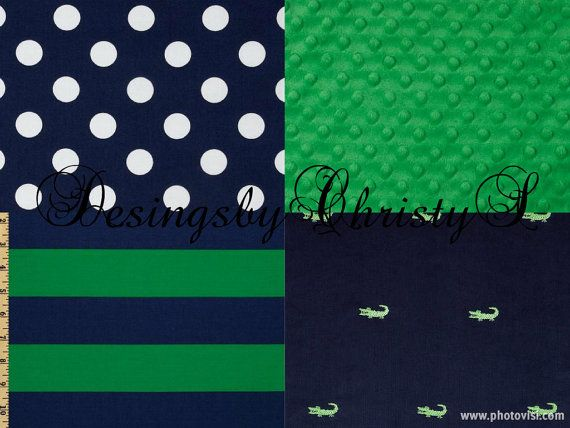 Kelly green stripes alligators 145 00 navy dots cribs beds green