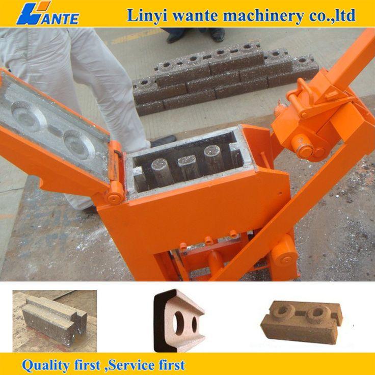 QM2-40 Manual Clay Interlocking Brick Making Machine for Sale
