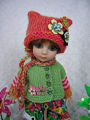 For Tonner New Patsy, Knit and Romper, Jungle Cats, made by Ulla