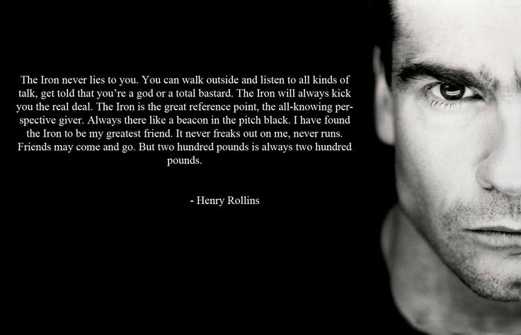 Iron and the Soul – By Henry Rollins
