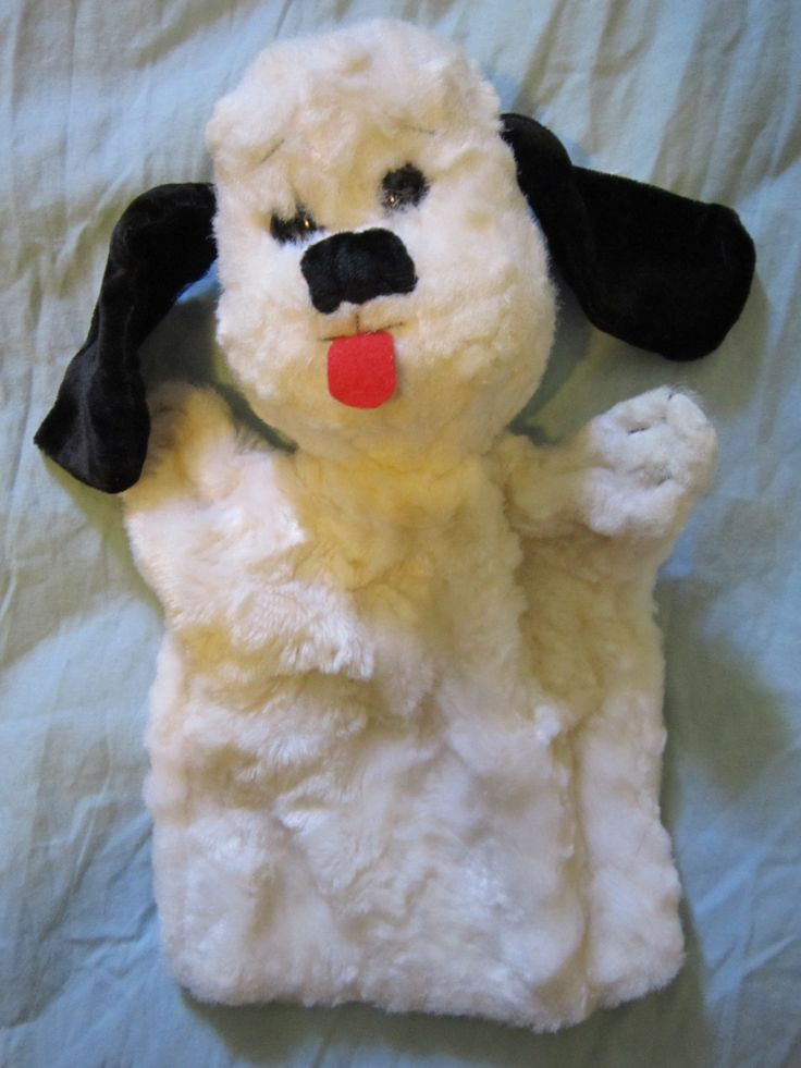 Found this white dog puppet which looks lots like sweep!
