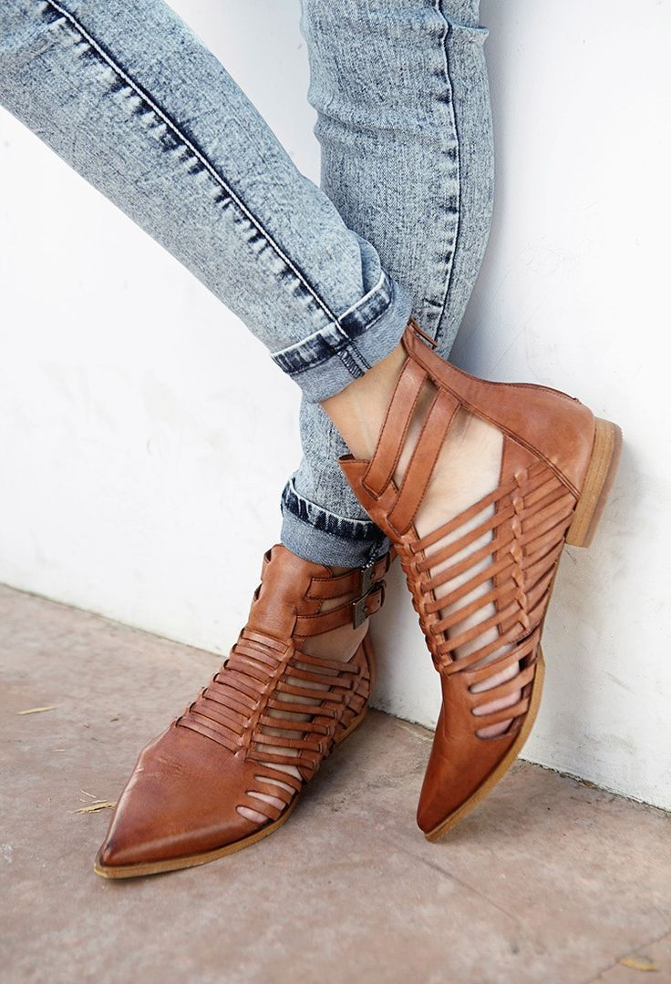 strappy cut-out booties