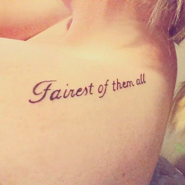 These 30 Disney Princess Tattoos Are the Fairest of Them All ❤ liked on Polyvore featuring tattoos, tatoos, phrase, quotes, saying and text