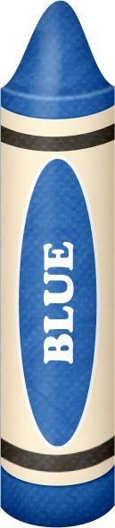 BLUE CRAYON CLIP ART