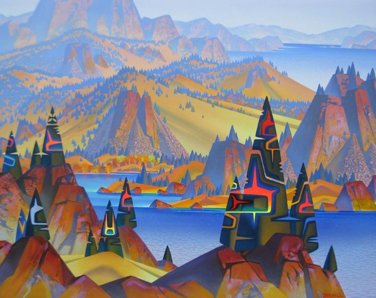 "'Hazy Okanagan' 16"" x 20"" by John Revill | Hambleton Galleries 1290 Ellis Street, Kelowna BC 250-860-2498 www.hambletongalleries.com"