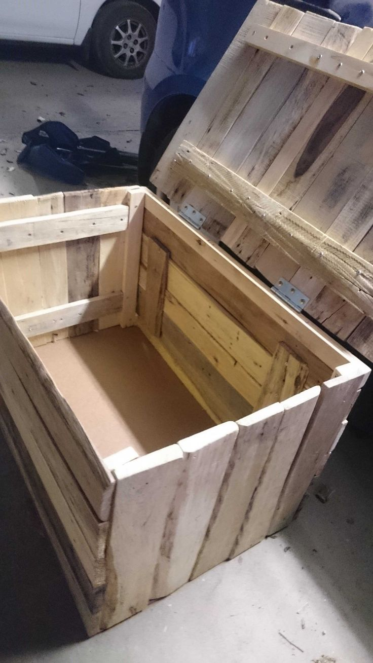 I made this chest using old pallets, it's first ever project and help so  much