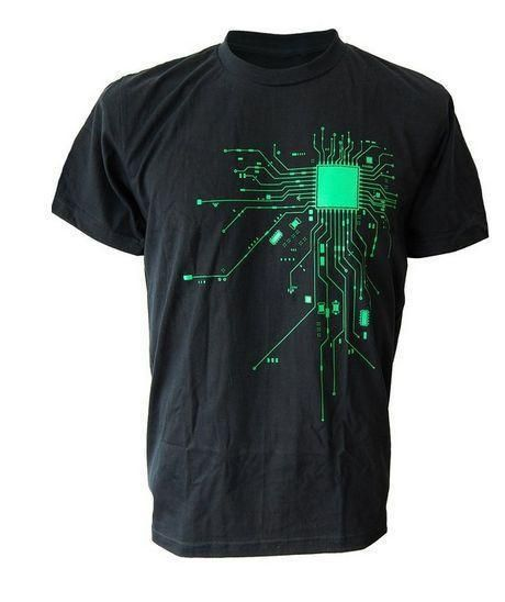 Computer CPU Core Heart T-Shirt Men's GEEK Nerd Freak Hacker PC Gamereticdress
