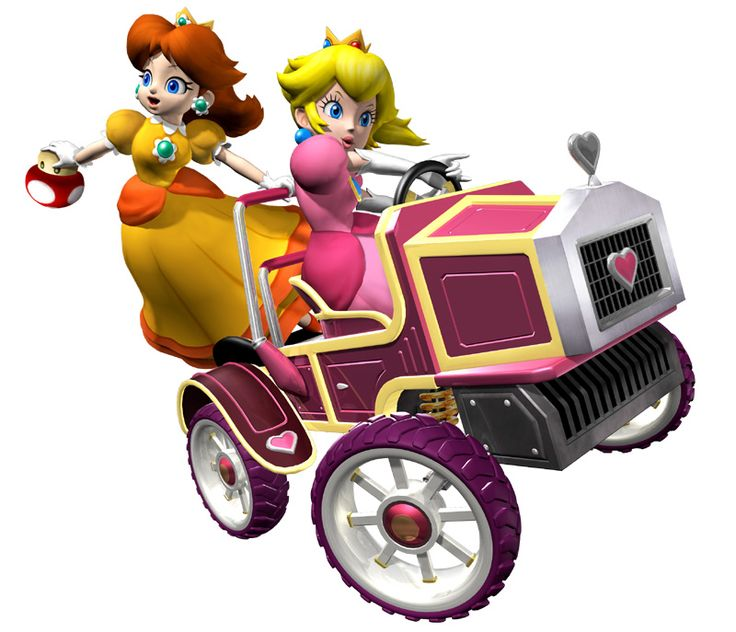 "In the Mario Kart racing games, the princess carts have one of the lowest top speeds and are considered as ""light weight"" category. This preserves their feminine image as weaker, and non-aggressive characters."