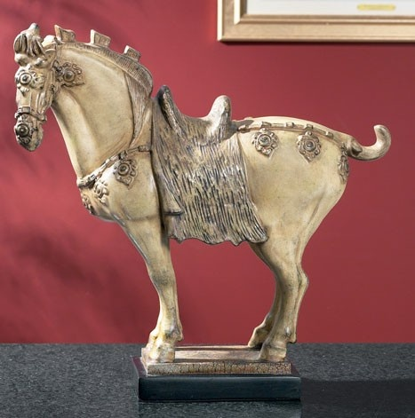 SMALL WHITE TANG HORSE STATUE