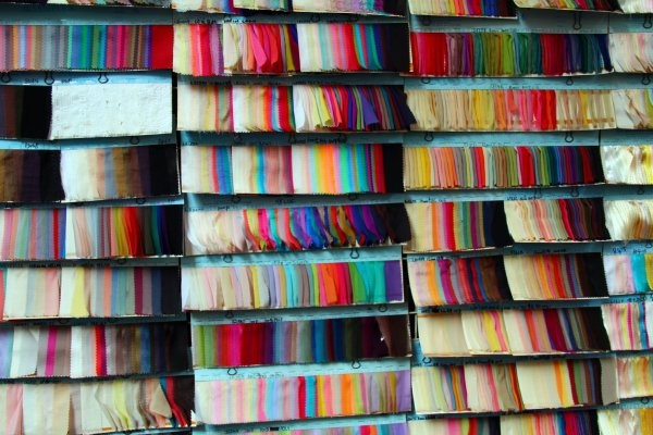 To do this year: fabric shopping in Hong Kong. Look at all these swatches! <3