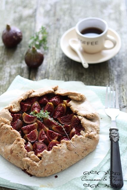 Fig galette | Food Photography | Pinterest