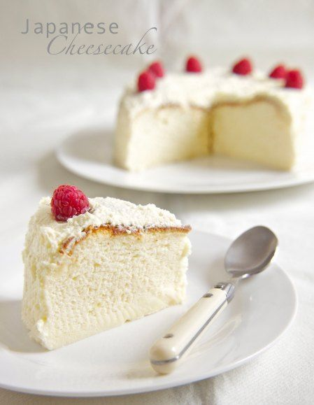 Japanese Cheesecake! It's so light and fluffy!