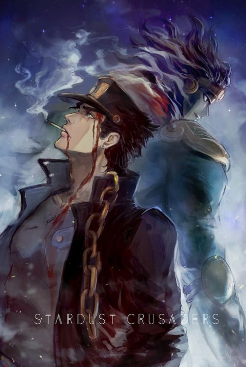 Jotaro Kujo and Star Platinum--JJBA
