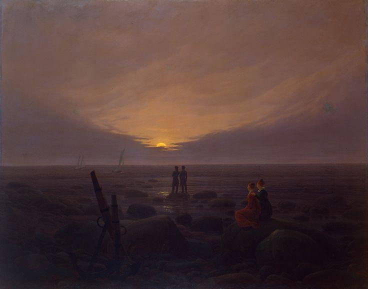 "Каспар Давид Фридрих. ""Восход луны над морем"". 1821"