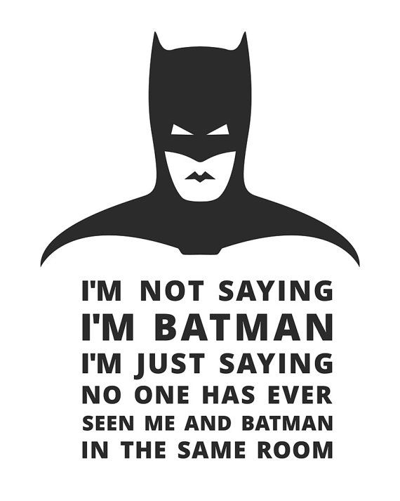 Ik zeg niet dat ik ben Batman kunst aan de muur door Imagonarium