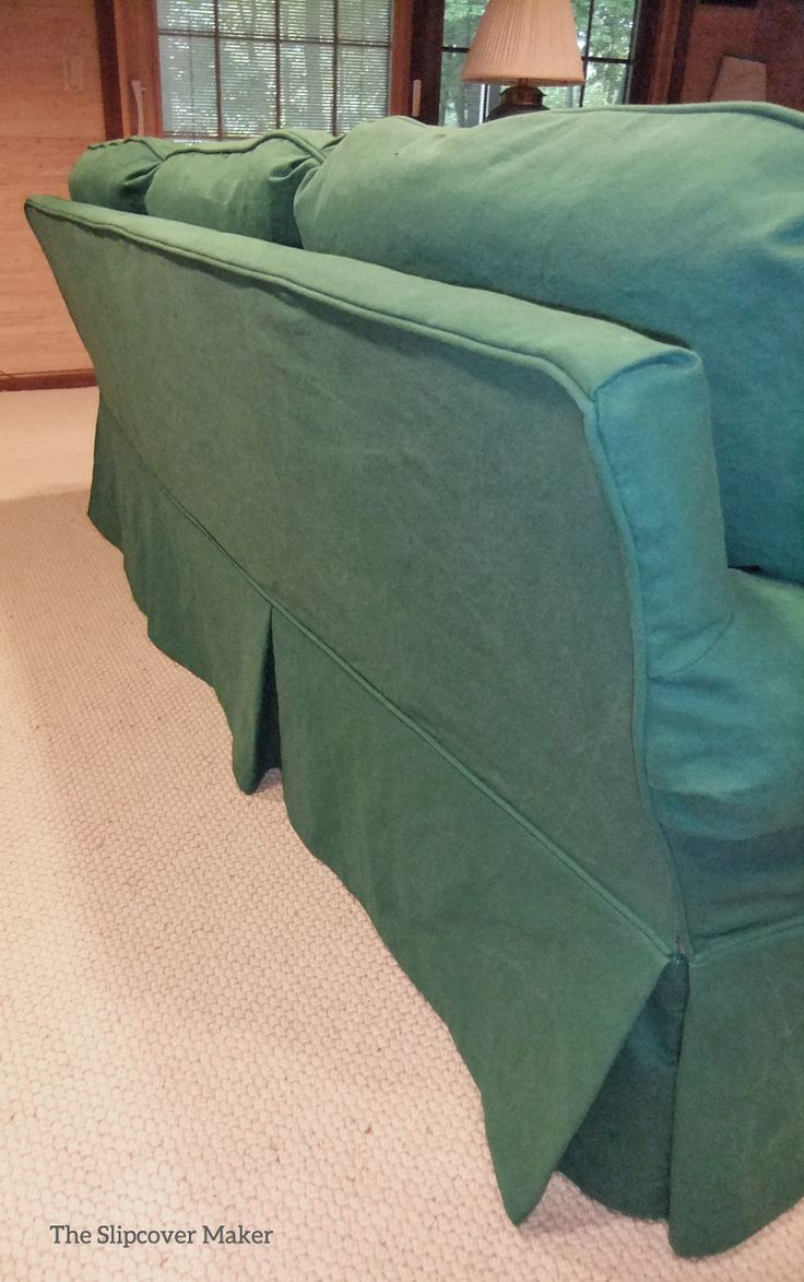 Washed Heavy Weight Canvas Slipcover With Tailored Skirt