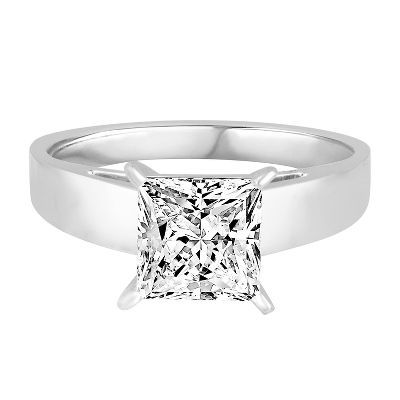 1 3/4 ct. tw. Diamond Solitaire Engagement Ring in 14K White Gold  available at #HelzbergDiamonds