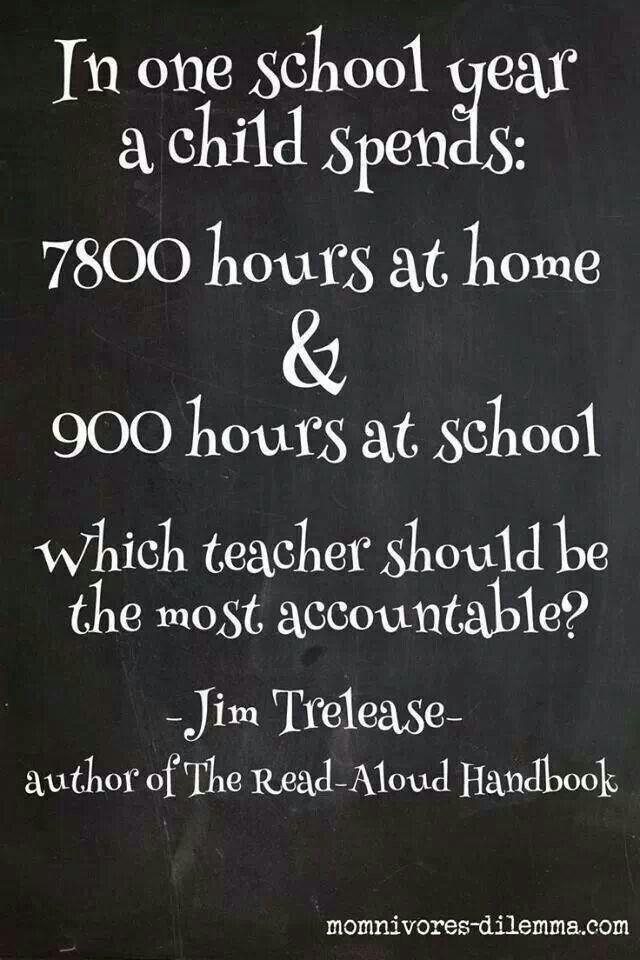 Exactly!!!! It begins at home. A teacher cannot be expected to control  discipline your children when you never do!