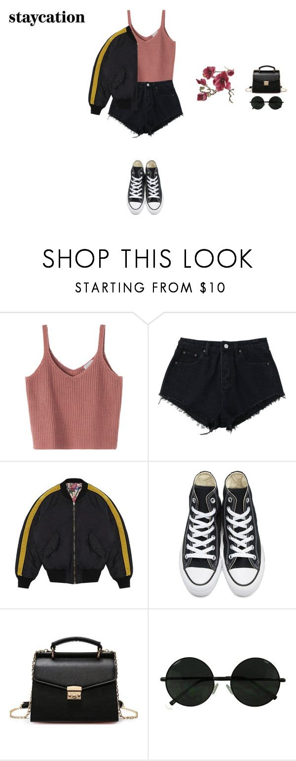 """""""Untitled #404"""" by xoxotiffvni on Polyvore featuring Gucci, Converse, Crate and Barrel and staycation"""