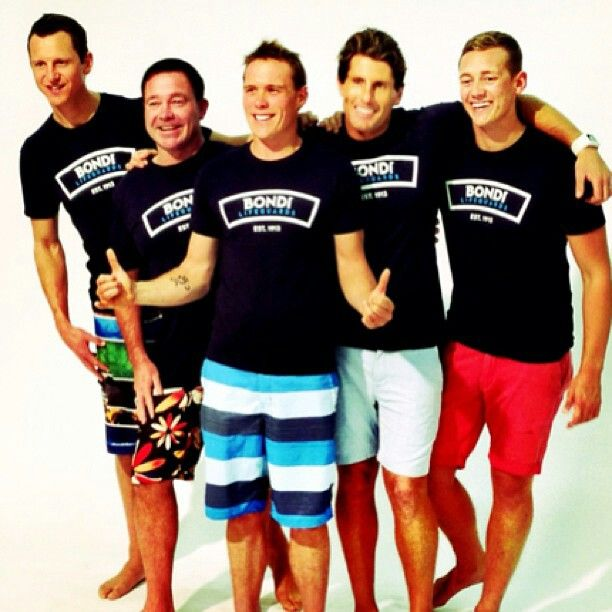 Some of the guys modelling the new bondi lifeguards clothing line :) ( bondi rescue )