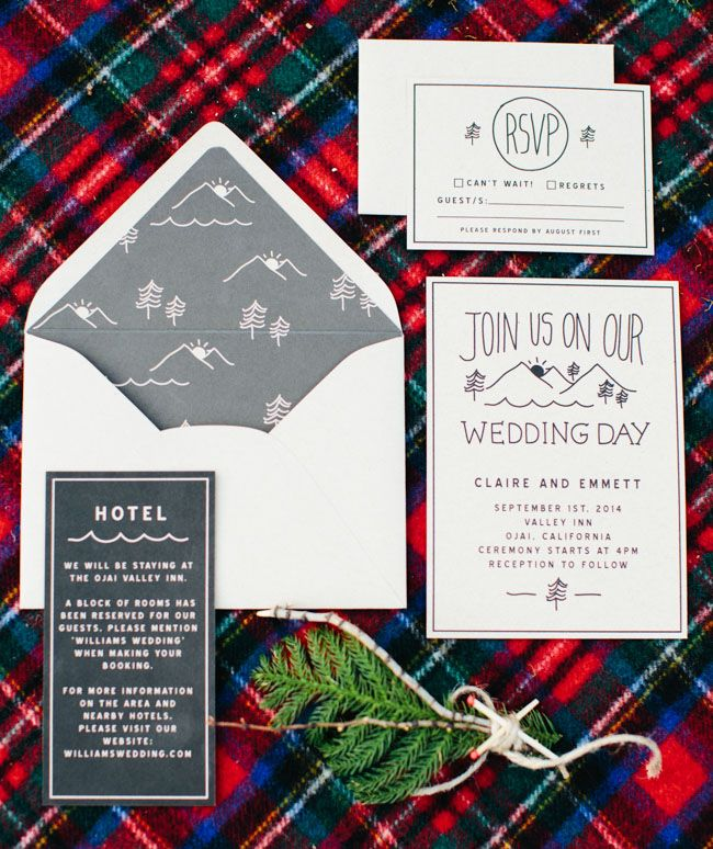 camping elopement invitation