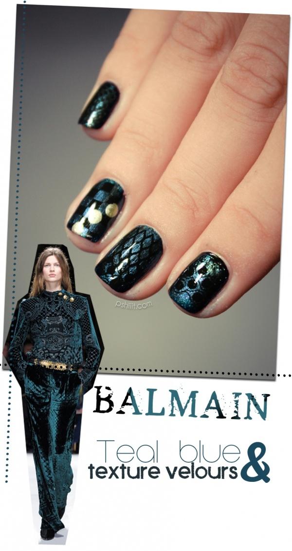 Balmain  inspirationBeautify Nails, Nails Boards, Nails Art, Balmain Inspiration Nails, Nails Design, Lillexxi Nails, Black Nails, Fall Winter, Art Nails