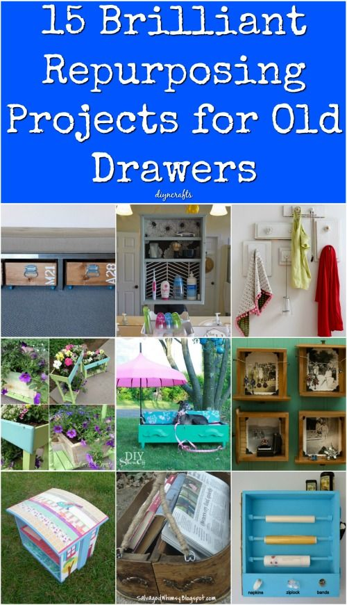 15 Brilliant Repurposing Projects For Old Drawers