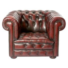Vintage Harrods of London Leather Club Chair