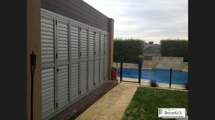 Aluminium shutter can also make a bifold door!!