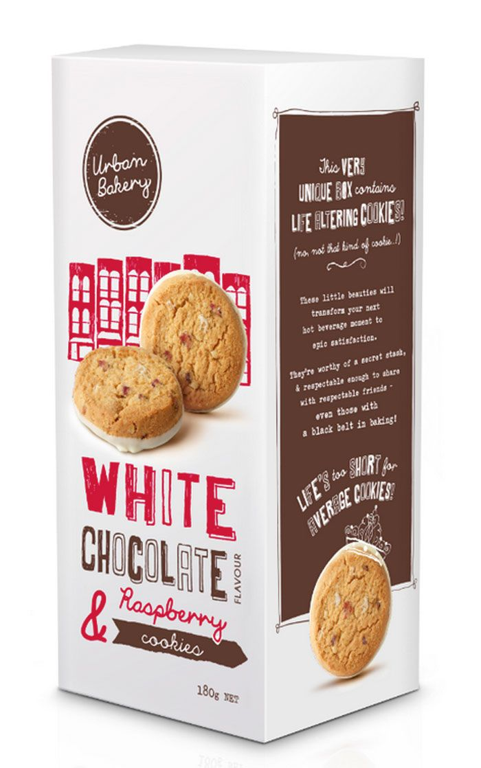 Urban Bakery - White Chocolate and Raspberry Cookies Package