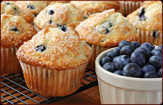 Seasonally, Traeger owners in some northern states and Canada can forage for wild blueberries. But blueberries from the supermarket or farmer's market in the little clam-shell containers—and even frozen blueberries—work just fine in this recipe. The sour cream makes these muffins exceptionally moist.