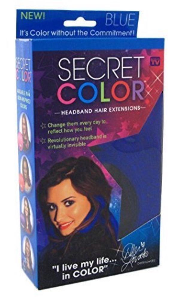 Demi Lovato Blue Hair Extensions July 4th Hair Fun | eBay