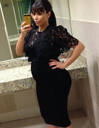 you're awful for making fun of kim. she is gorgeous and beautiful and she is rocking the pregnancy look. like any of you could do any better? please.