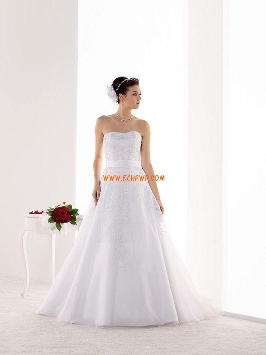Sem Mangas Apliques Atado Vestidos de Noiva 2014