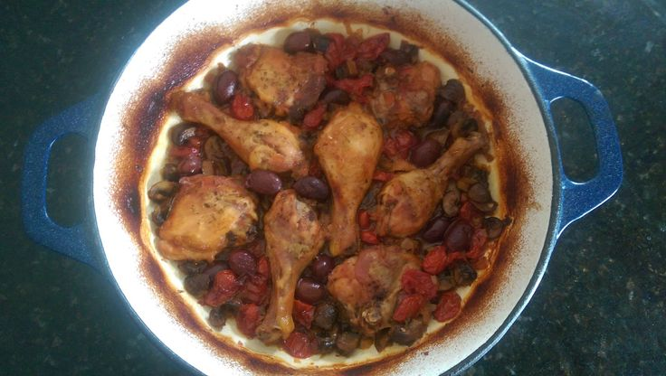 Braised Chicken with Mushrooms and Olives. One of my all time favourites dishes, so comforting.  #italianfood #chicken #eatclean #onepot #easyrecipes #easy